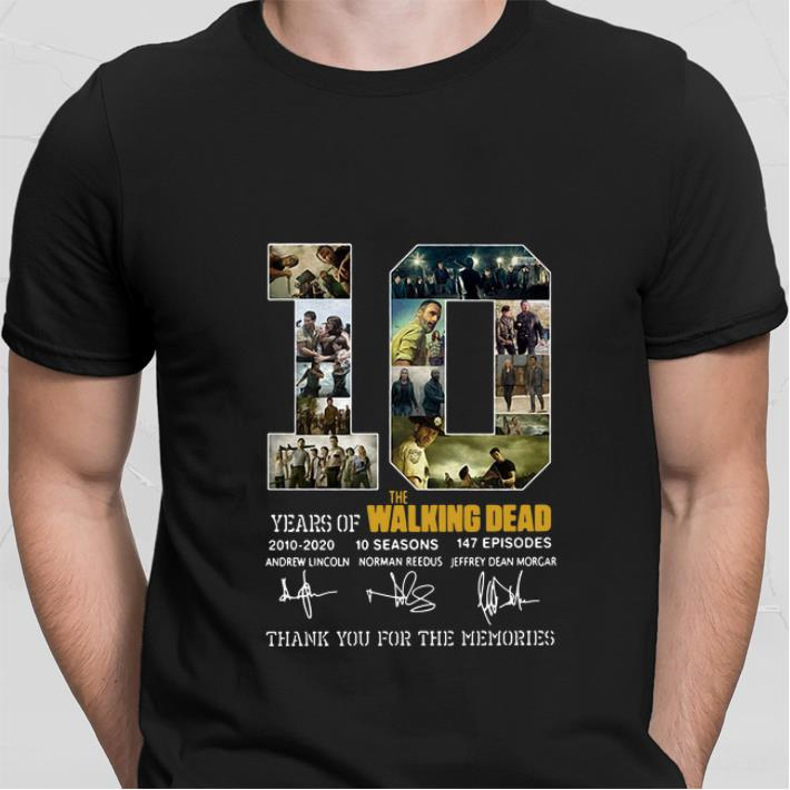 10 Years of The Walking Dead thank you for the memories shirt