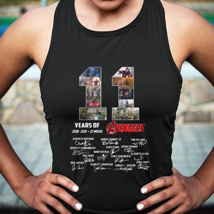 11 Years of Avengers 2008-2019 signatures shirt 3