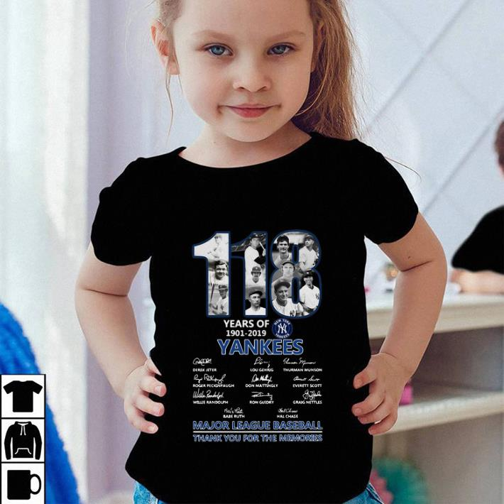 118 Years Of New York Yankees thank you for the memories shirt