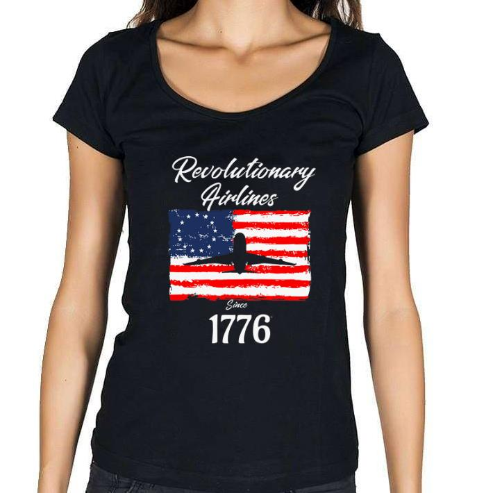 1776 Revolutionary Airlines since 1776 Betsy Ross Flag shirt 1