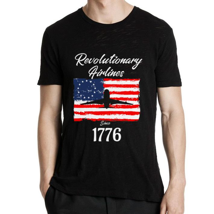 1776 Revolutionary Airlines since 1776 Betsy Ross Flag shirt 2