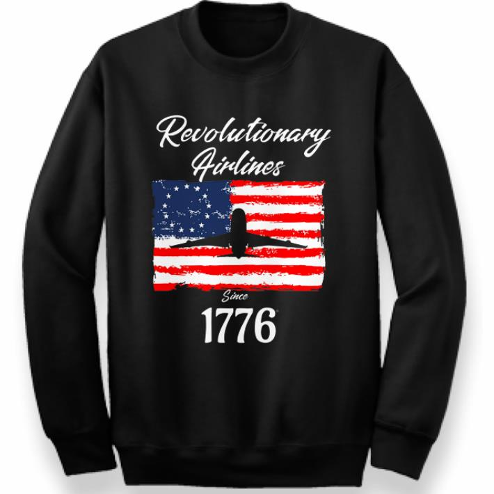 1776 Revolutionary Airlines since 1776 Betsy Ross Flag shirt 3