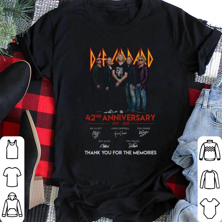 1977-2019 Def Leppard 42nd anniversary signatures shirt
