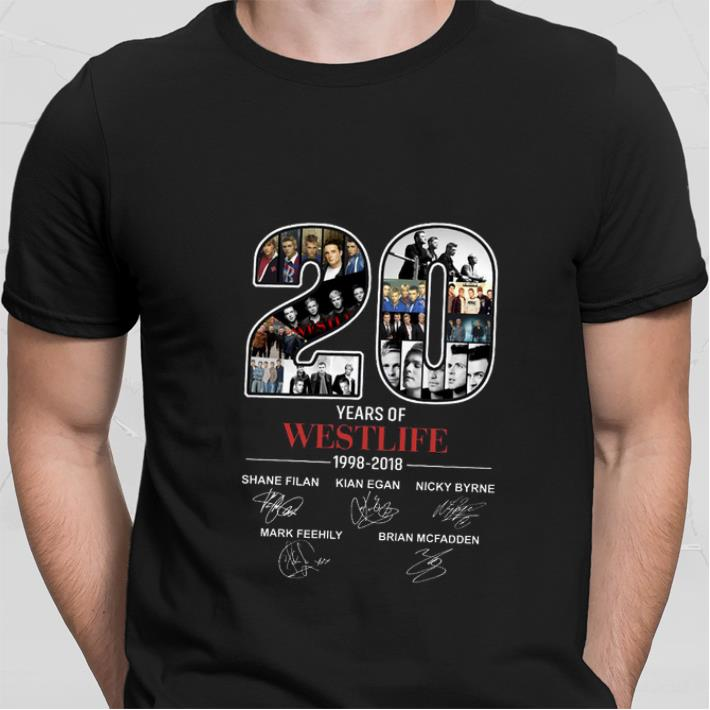 20 years of Westlife 1998-2018 signatures shirt sweater