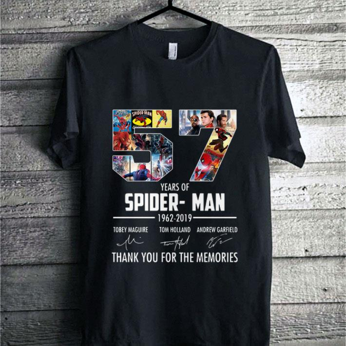 57 years of Spider-Man 1962-2019 thank you for the memories shirt 1