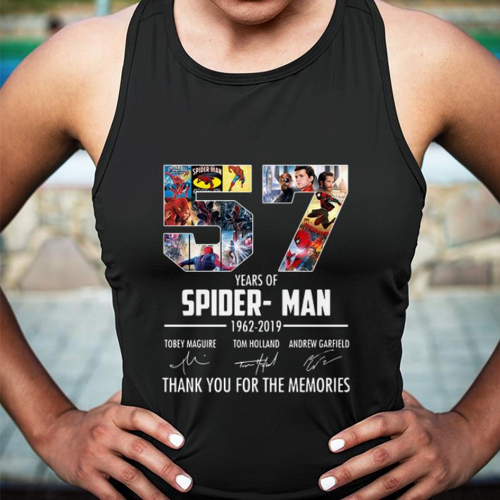 57 years of Spider-Man 1962-2019 thank you for the memories shirt 3