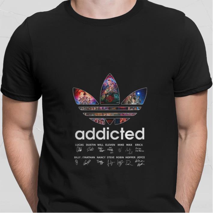 Adidas Addicted signatures 3 season Stranger Things shirt