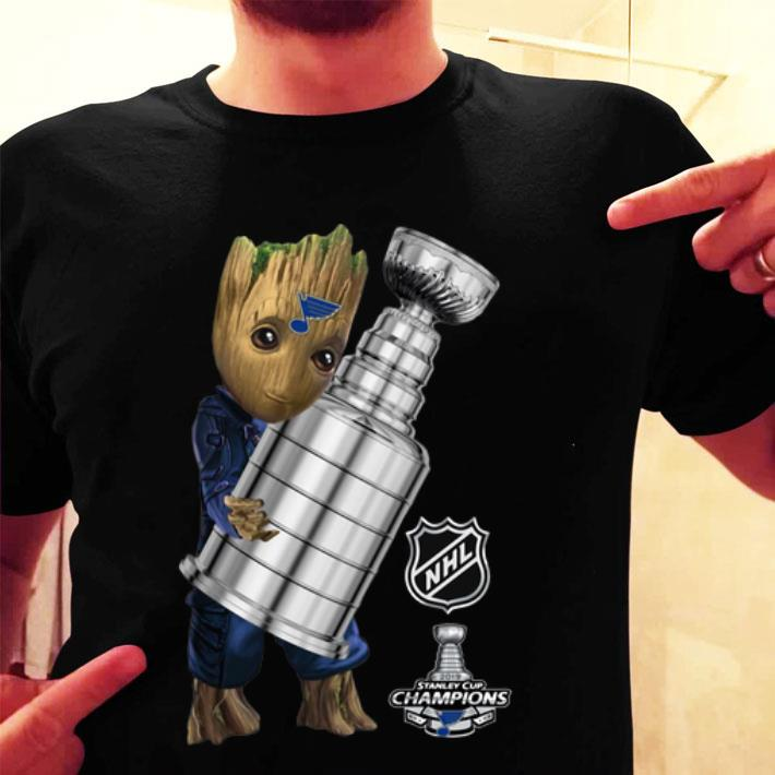 Baby Groot St. Louis Blues Stanley Cup Champions 2019 shirt