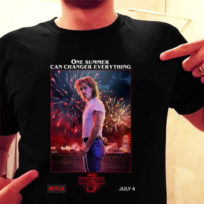 Billy Hargrove Stranger Things 3 one summer can change everything shirt