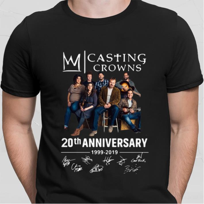 Casting Crowns 20th anniversary 1999-2019 signatures shirt sweater