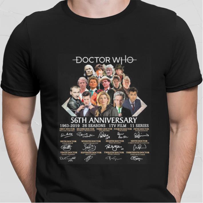 Doctor Who 56th anniversary 1963-2019 26 Seasons signatures shirt