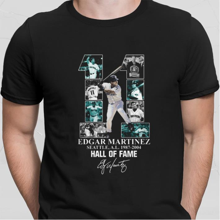 Edgar Martinez 11 Seattle Mariners 1987-2004 Hall Of Fame shirt
