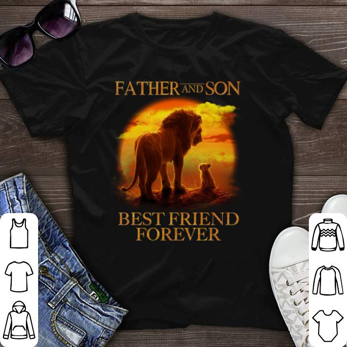 Father and son Mufasa and Simba best friend forever shirt