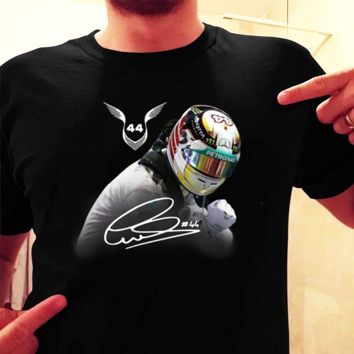 Lewis Hamilton 44 F1 world drivers champion signature shirt