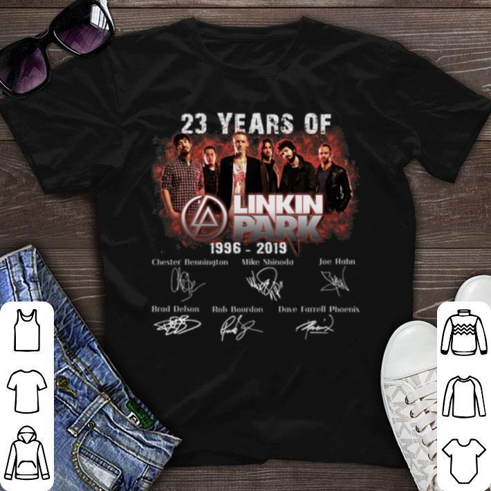 Nice 23 Years of Linkin Park 1996 2019 signature shirt