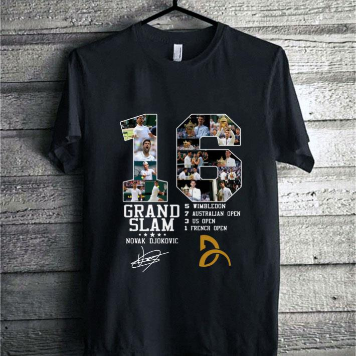 Novak Djokovic 16 Grand Slam Signature shirt