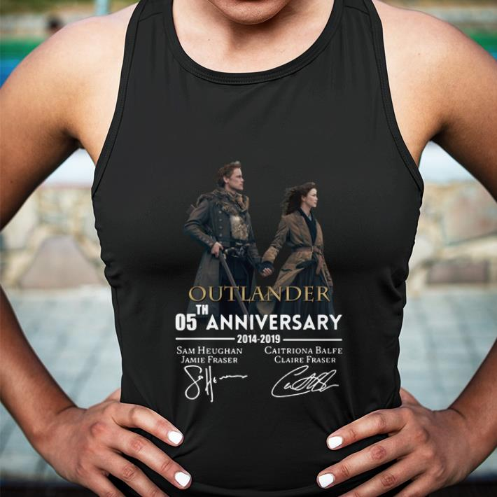 Outlander 05th anniversary 2014-2019 signatures shirt