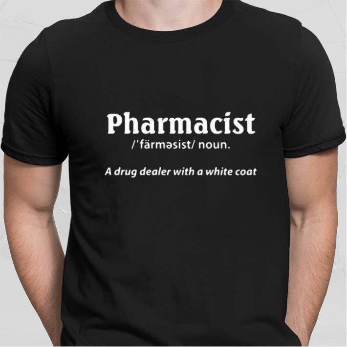 Pharmacist a drug dealer with a white coat shirt 2
