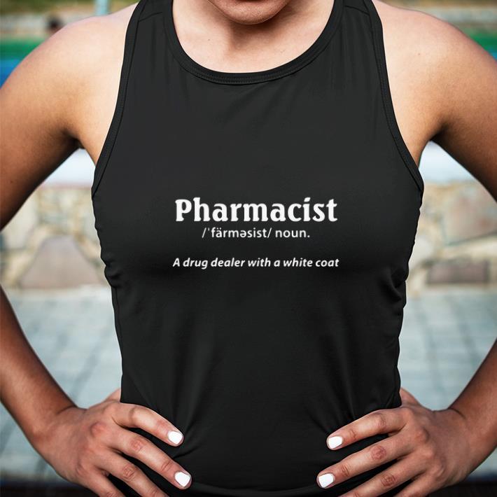 Pharmacist a drug dealer with a white coat shirt 3