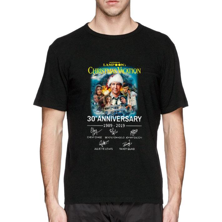 Signatures National Lampoon's Christmas vacation 30th anniversary shirt