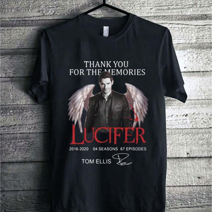 Thank you for the memories Lucifer Tom Ellis signature shirt