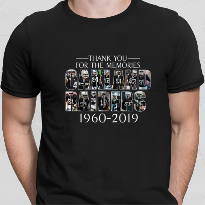 Thank you for the memories Oakland Raiders 1960-2019 shirt sweater