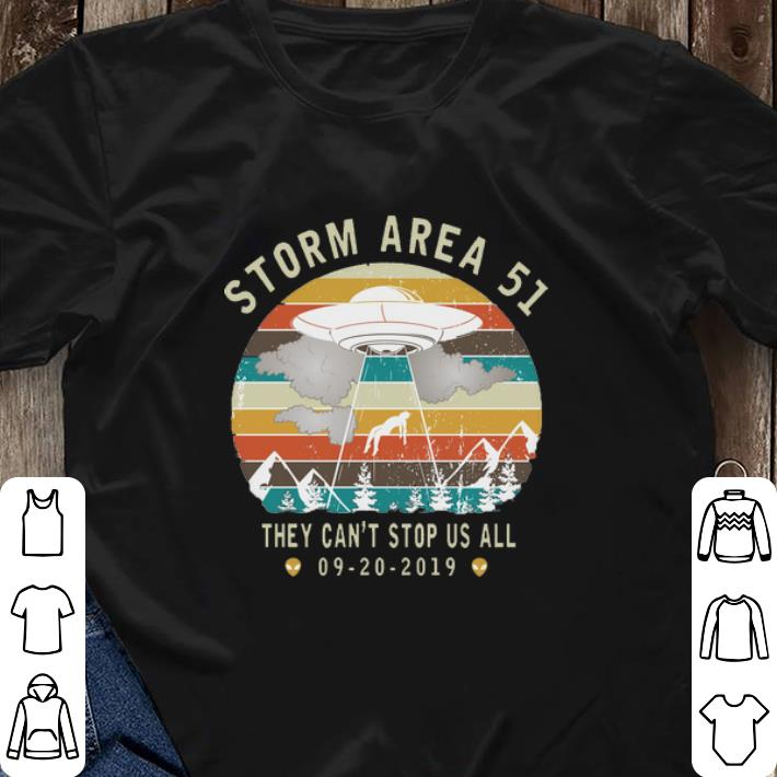 They cant stop us all vintage Storm Area 51 shirt