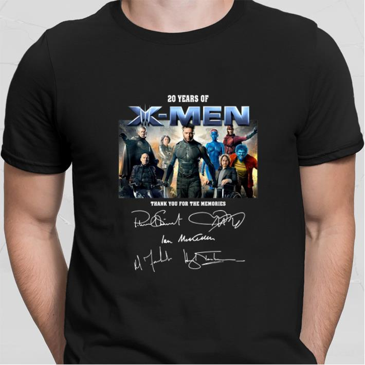 20 years of X-Men signatures thank you for the memories shirt