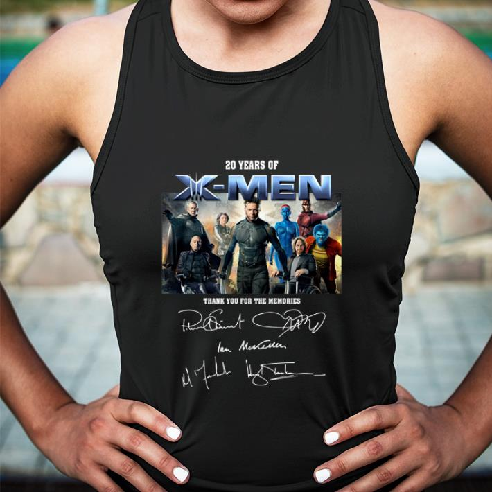 20 years of X-Men signatures thank you for the memories shirt 5