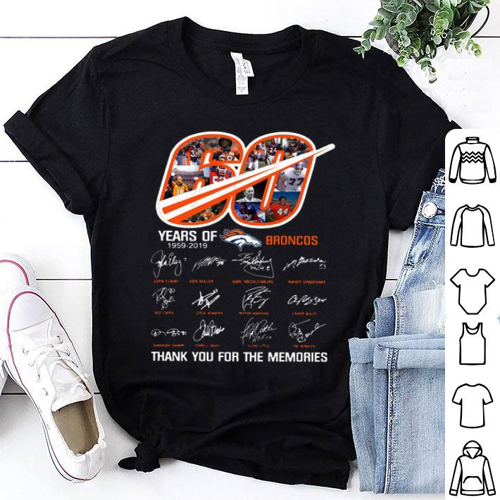 60 Years Of Denver Broncos 1959-2019 thank you for the memories shirt