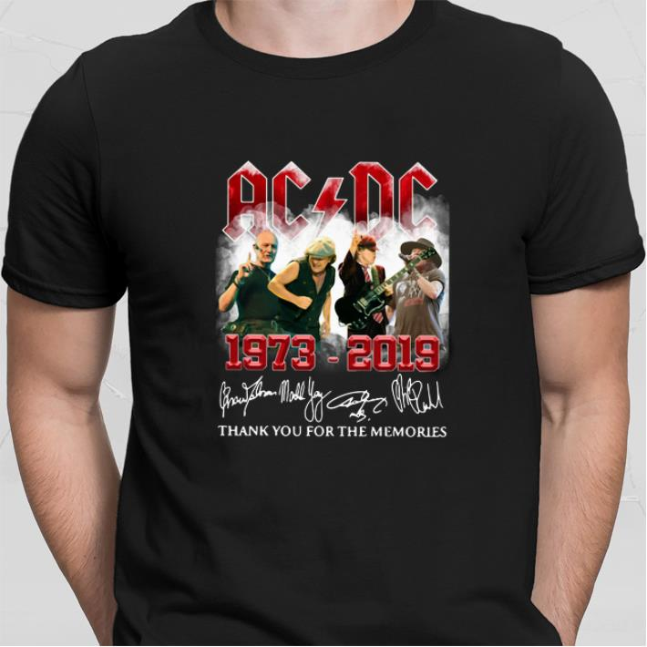 ACDC 1973-2019 thank you for the memories signatures shirt