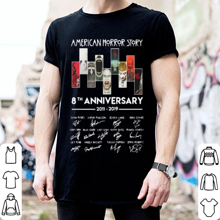 American Horror Story 8th anniversary 2011-2019 signatures shirt