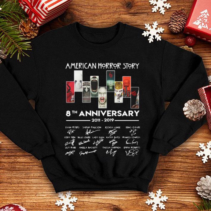 American Horror Story 8th anniversary 2011-2019 signatures shirt