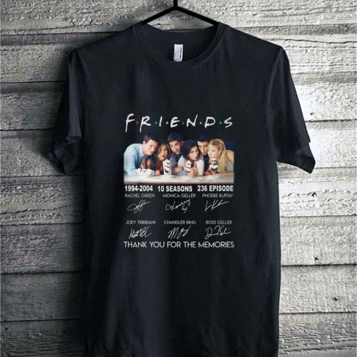 Friends 1994-2004 10 season signature thank you for the memories shirt
