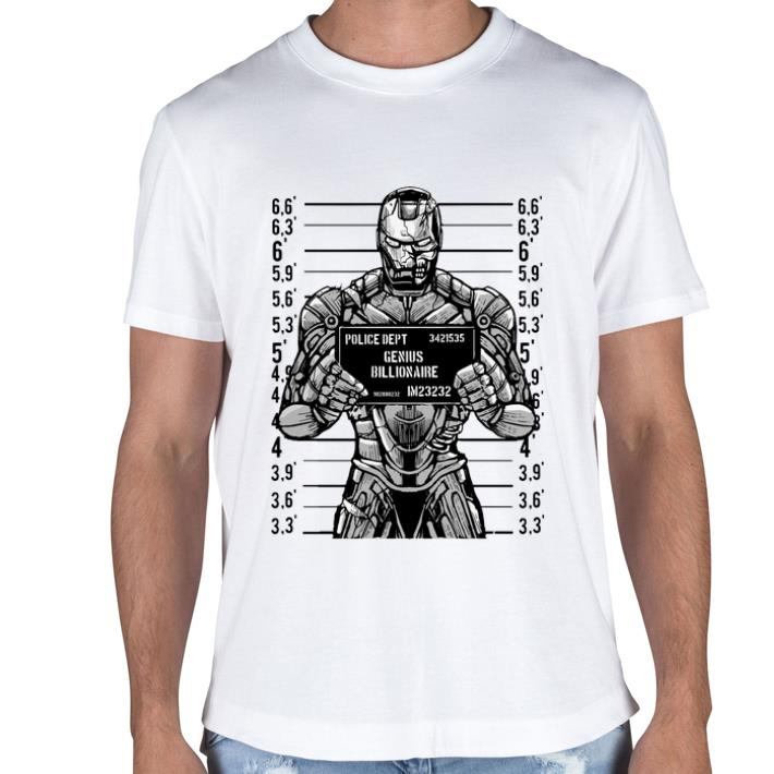 Iron man police dept genius billionaire shirt sweater