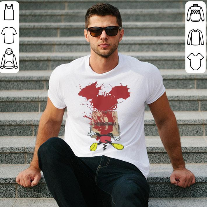Mickey mouse trap blood halloween shirt