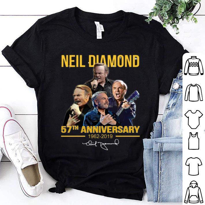 Neil Diamond 57th anniversary 1962-2019 signature shirt