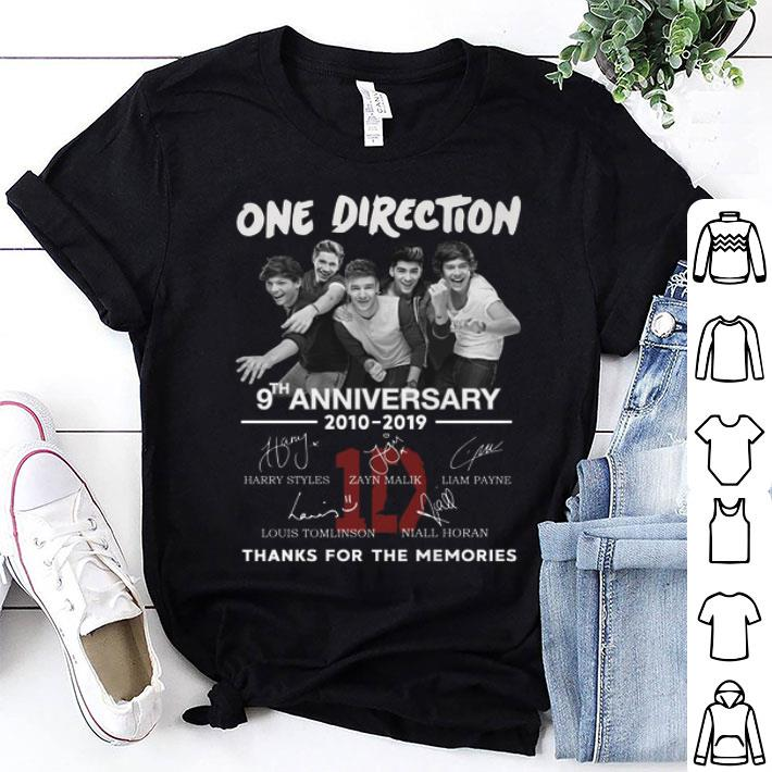 One Direction 9th anniversary 2010-2019 signatures shirt