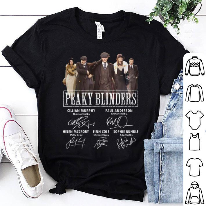 Peaky Blinders Cillian Murphy Paul Anderson Finn Cole Signatures shirt