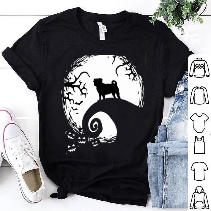 Pug dog and moon Halloween shirt