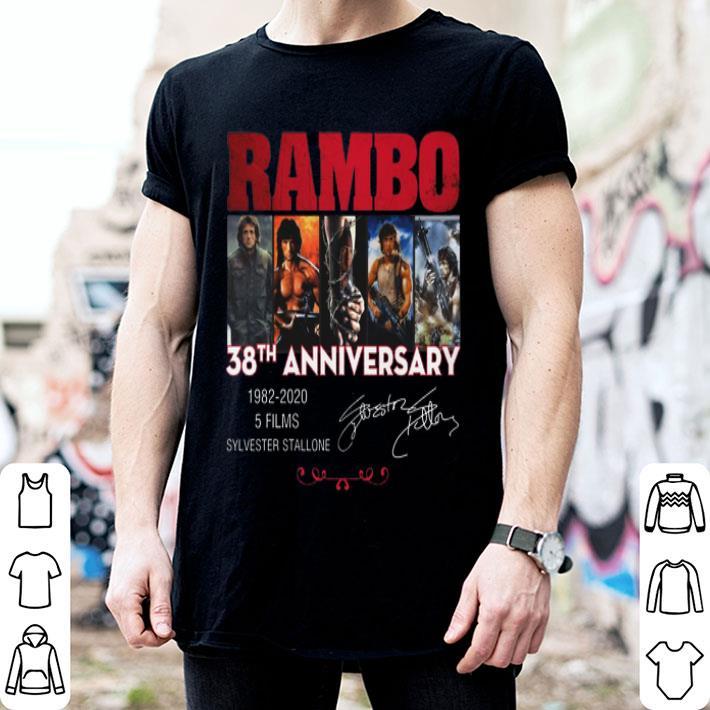 Rambo 38th anniversary 1982-2020 Sylvester Stallone signatures shirt