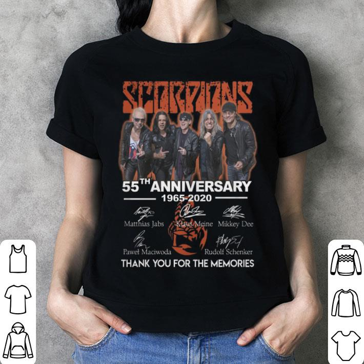 Scorpions 55th anniversary 1965-2020 thank you for the memories shirt