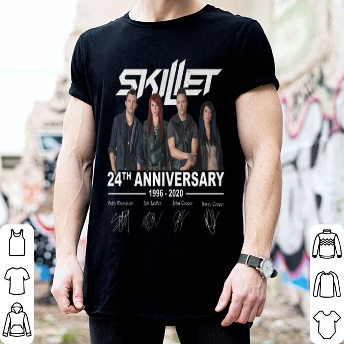 Skillet 24th anniversary 1996-2020 signatures shirt