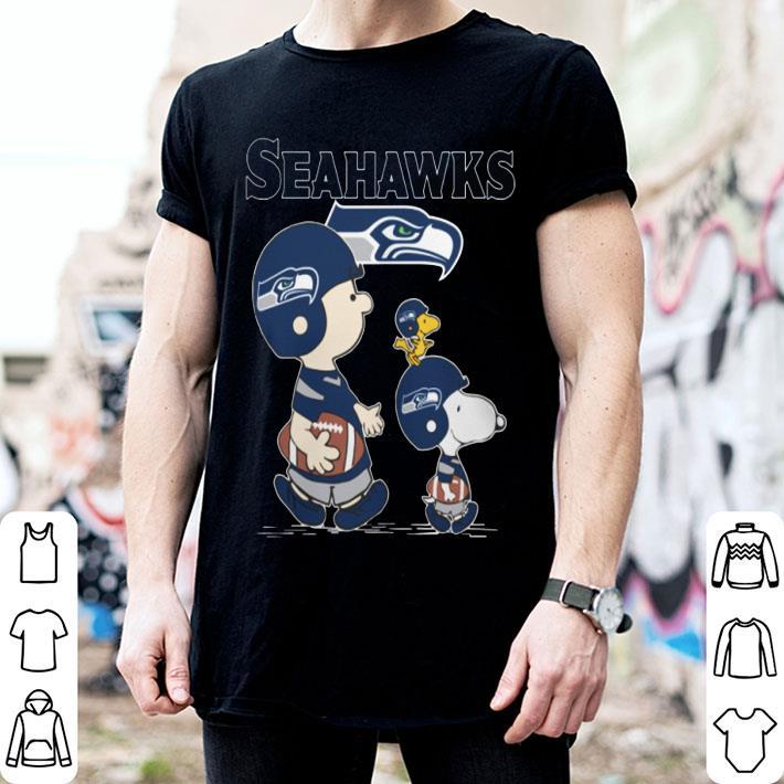 Snoopy Charlie Brown Seattle Seahawks Woodstock shirt