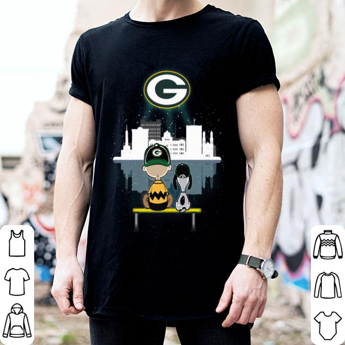 Snoopy and Charlie Green Bay Packers shirt