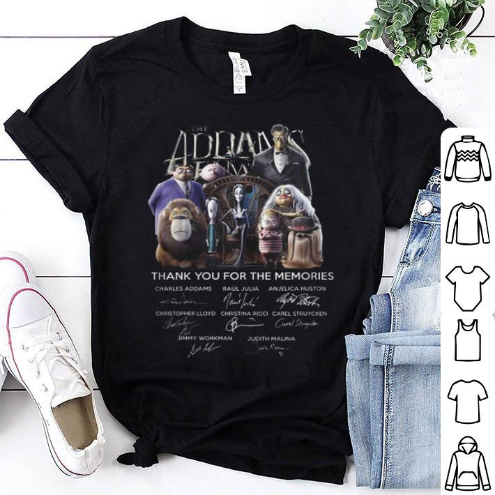 The Addams Family thank you for the memories signatures shirt