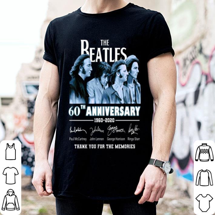 The Beatles 60th anniversary 1960-2020 signatures shirt