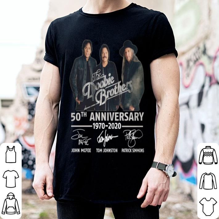 The Doobie Brothers 50th anniversary 1970-2020 signatures shirt