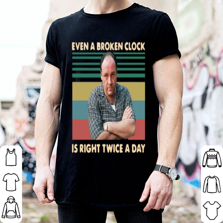 Tony Soprano even a broken clock is right twice a day vintage shirt