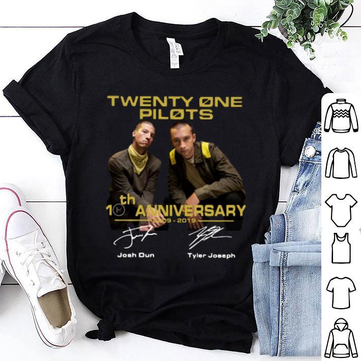 Twenty One Pilots 10th anniversary signatures shirt